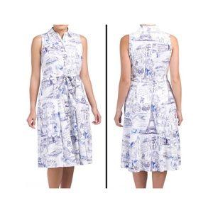 Chetta B | Paris Toille Print Dress